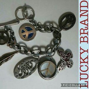 Lucky Brand charm bracelet + watch, like new